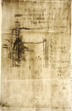 Anton Heyboer, Innocent as Living 2, Etching