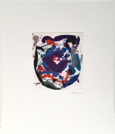 Sam Francis, untitled, 1986, Unique color trial proof, Signed