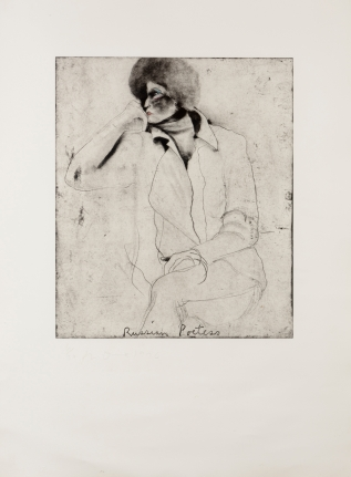 Jim Dine, Russian Poetess, Etching