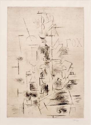 Georges Braque, Fox, Drypoint
