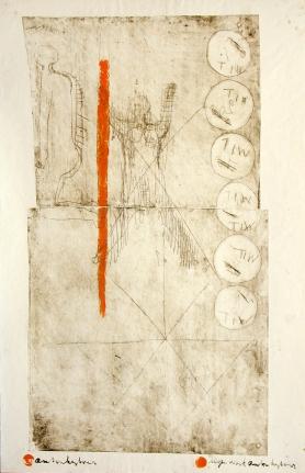 Anton Heyboer, Haar Kennis, Etching and mixed media