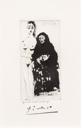 Pablo Picasso, Maja et Celestine, 347 Series, Aquatint