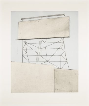 Ed Ruscha, Your Space on Building, 2006, aquatint, etching