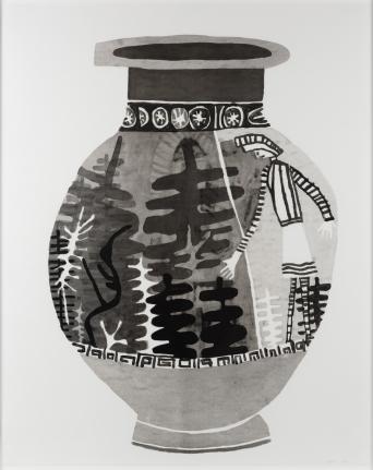 Jonas Wood, Untitled, 2010, Monoprint with handpainting