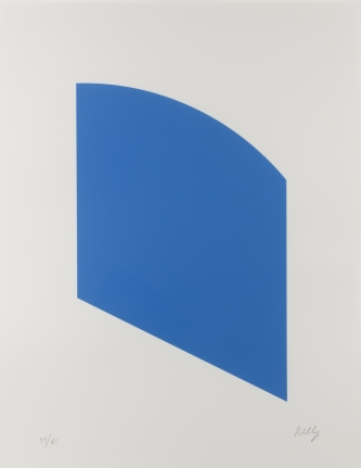 Ellsworth Kelly, Blue, Lithograph