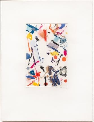 Sam Francis, Untitled, 1989, Aquatint, Signed, Print