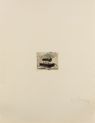 Jasper Johns, Flashlight (small), etching