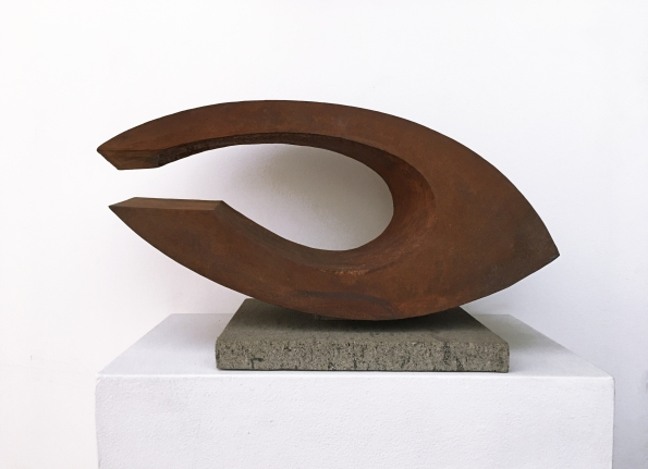 Beverly Pepper, Horizontal Twist Version I, Steel Sculpture