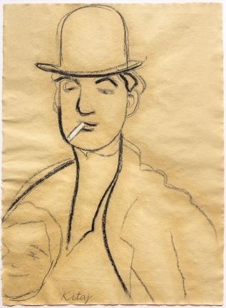 R.B. Kitaj, Jules Pascin, Drawing