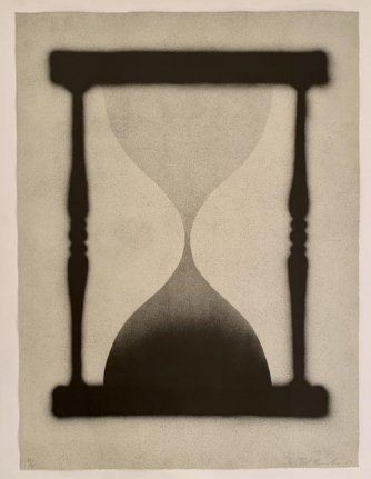 Ed Ruscha, Time is Up, 1989, Lithograph