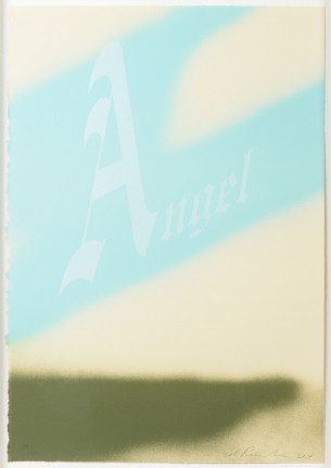 Ed Ruscha, Angel 2014, Signed Lithograph