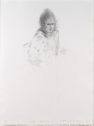 David Hockney, Celia Smoking, Lithograph