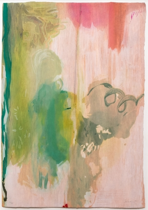 Helen Frankenthaler, Snow Pines, 2004, Woodcut, Abstract, Expressionism