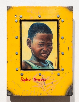 Willie Bester, Sipho Ntaba, Oil on canvas