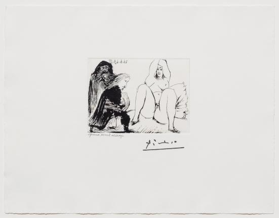 Pablo Picasso, La Celestine, sa Protegee, BSF 347 series