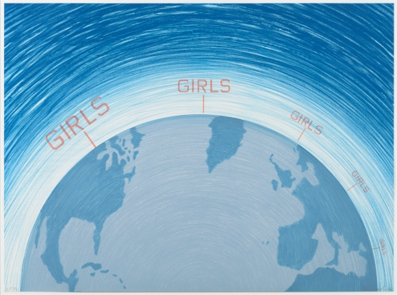 Ed Ruscha, Girls from the World Series 1982, Signed Lithograph