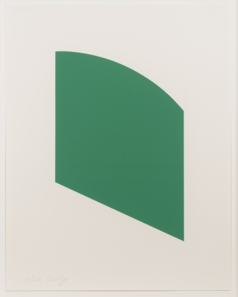 Ellsworth Kelly, Green Curve, Lithograph