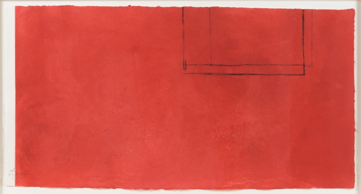 Robert Motherwell, Red Open with White Line, Aquatint and etching