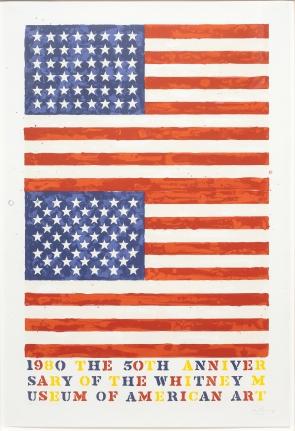 Jasper Johns (Whitney Anniversary), Lithograph