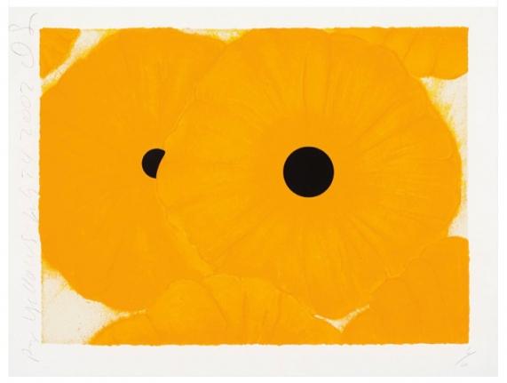 Donald Sultan, Six Yellows, 2002, Screenprint