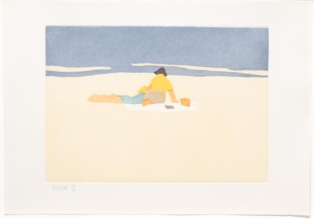 Alex Katz, Figures on Beach, from Small Cuts, Aquatint