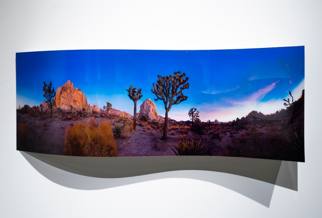 Jeremy Kidd, Hidden Rock 2 (curved), From the Joshua Tree Series, Archival Pigment Print