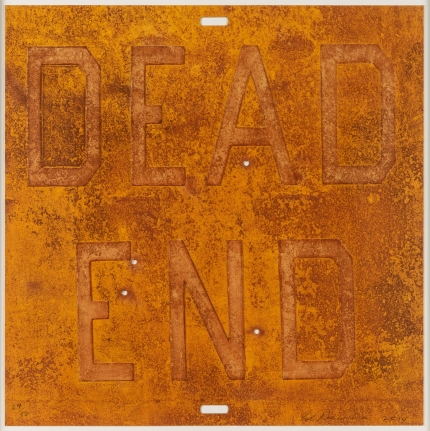 Ed Ruscha, Dead End 2, from Rusty Signs, Mixografia print
