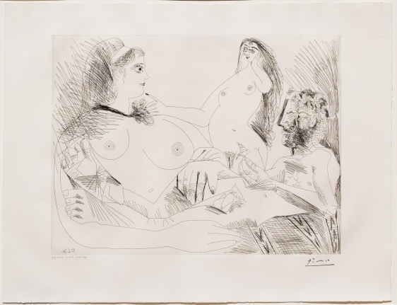Pablo Picasso, Belle Jeune Femme, 156 series, Etching