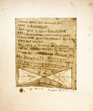 Anton Heyboer, Twee Maal het Wezenlijke, Etching