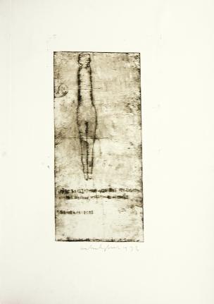 Anton Heyboer, Figure, Etching