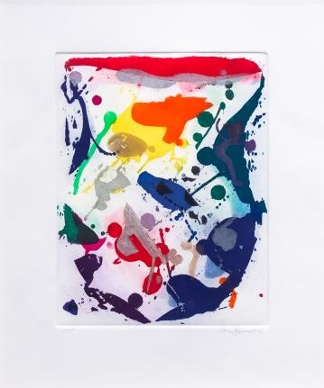 Sam Francis, Untitled 044, 1987, Aquatint, Color Trial Proof