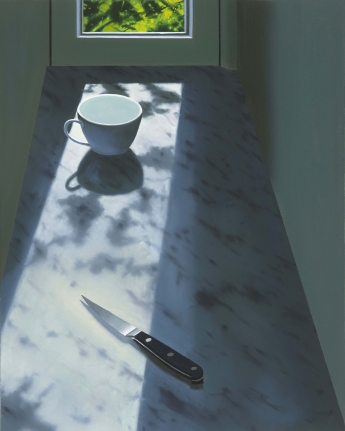 Bruce Cohen, Cup and Knife, Oil on canvas