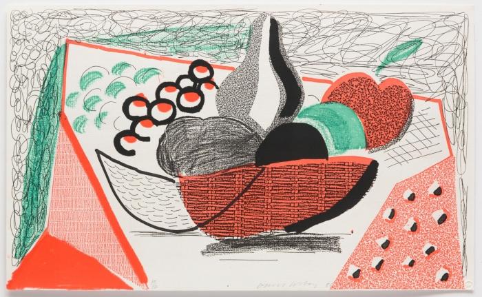 David Hockney, Apples, Pears and Grapes, May 1986, Print, Edition