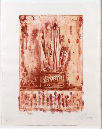 Jasper Johns, Savarin 3 (Red), Lithograph