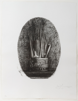 Jasper Johns, Savarin 4 (Oval), Lithograph