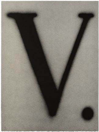Ed Ruscha, V., Lithograph