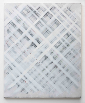 Ed Moses, White Grid, Acyrlic on canvas