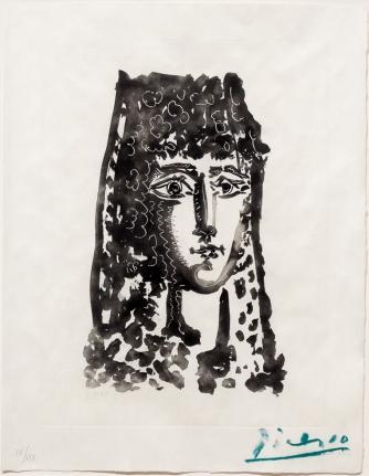 Pablo Picasso, Femme a la Mantille, from Carmen des Carmen, Aquatint