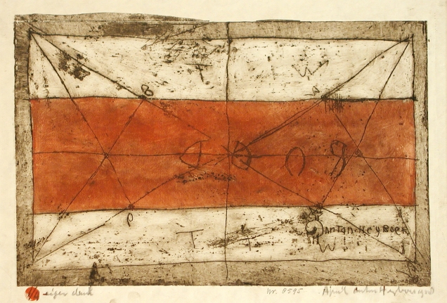Anton Heyboer, Untitled, etching with hand coloring