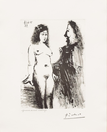 Pablo Picasso, Jeune Prostitutee, 347 Series, Aquatint