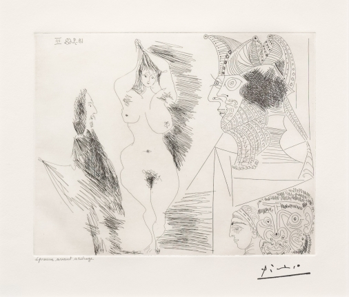 Pablo Picasso, Jeune Femme et Gentihomme, 347 Series, Etching
