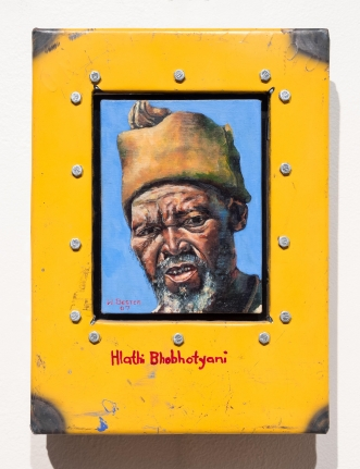 Willie Bester, Hlathi Bhobhotyani, Oil on canvas