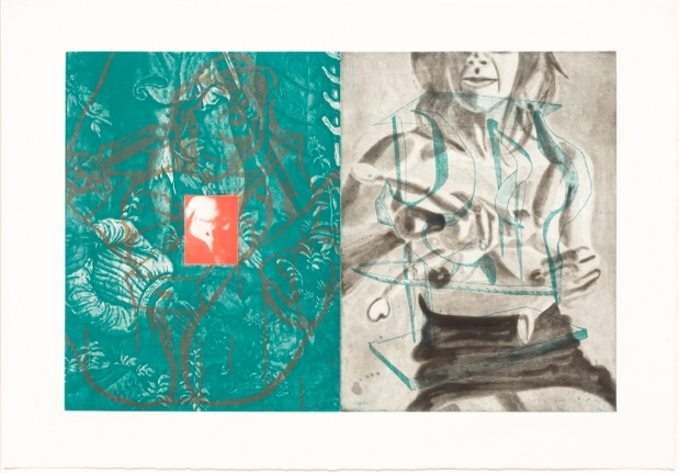 David Salle, Canfield Hatfield, Etching