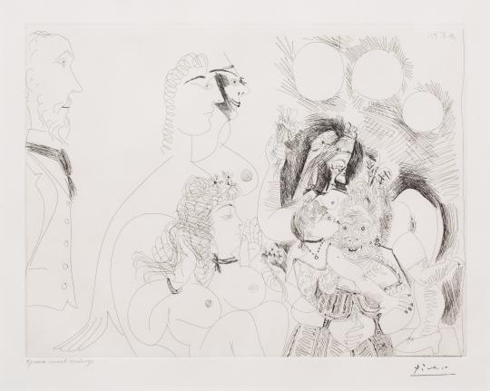Pablo Picasso, La Fete de la Patronne, 156 series, Etching