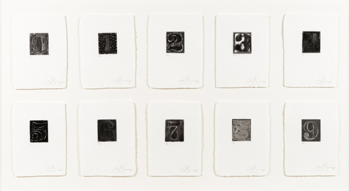Jasper Johns, 0-9, etching