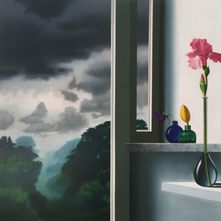 Bruce Cohen, Pink Iris, Oil on canvas