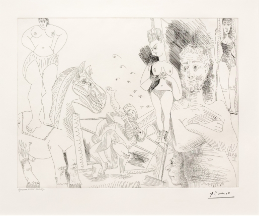 Pablo Picasso, Cirque et Catch, from the 347 Series, Etching