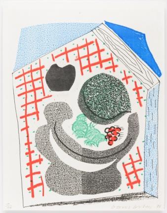 David Hockney, Bowl of Fruit, April 1986, Print, Edition