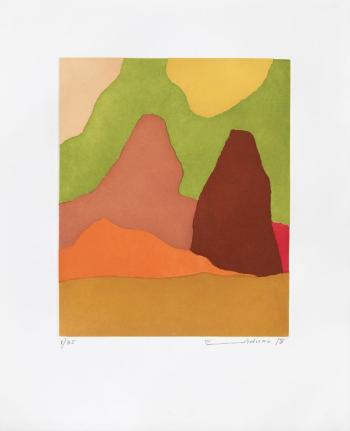 Edel Adnan, Dans le Mystere de la Nature (In the Mystery of Nature), 2018, etching