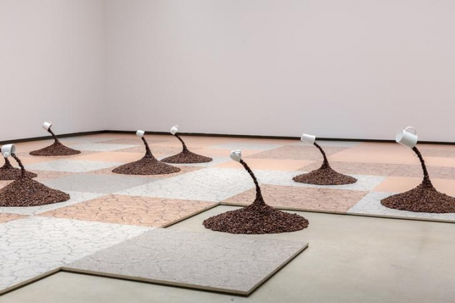 """""""The future is already here - it's just not evenly distributed,"""" The 20th Sydney Biennale. Australia, 2016. Installation view."""